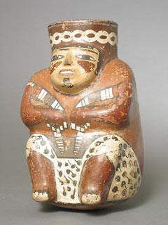 Nazca Vessel in the Form of a Squatting Figure