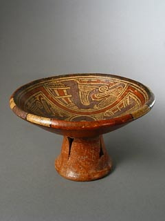 Cocle Pedastal Bowl with Avian Motifs