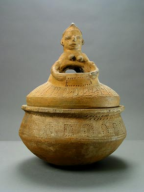 Yoruba Terracotta Ceremonial Vessel