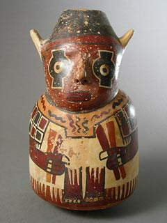 Nazca Terracotta Polychrome Effigy Vessel