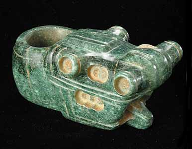Atlantic Watershed Jade Mace Head in the Form of a Crocodile Head