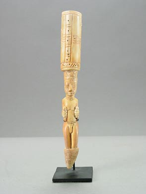 Yoruba Ivory Iroke Ifa Divination Tapper and Rattle