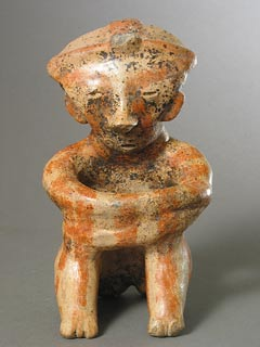 Chinesco Style (Type C) Nayarit Sculpture of a Seated Man
