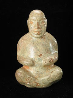 Olmec Stone Sculpture of a Seated Figure