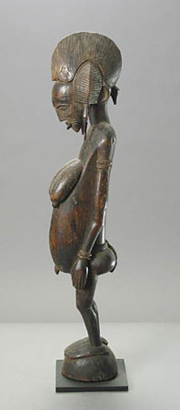 Senufo Wooden Sculpture of a Standing Woman