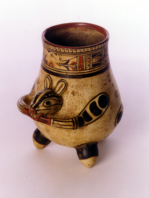Guanacaste-Nicoya Terracotta Tripod Vessel with Animal Head