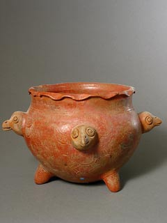 Guanacaste-Nicoya Terracotta Bowl Decorated with Four Birds