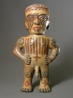 Guanacaste-Nicoya Terracotta Sculpture of an Ithyphallic Man