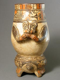 Terracotta Animal Effigy Vessel