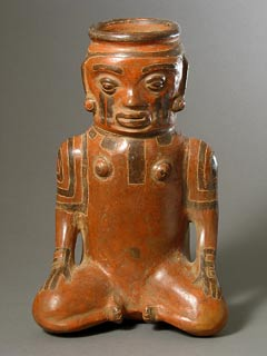 Rosales Zoned Engraved Human Effigy Vessel
