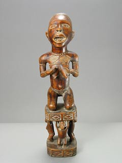 Kongo Wooden Fertility Sculpture