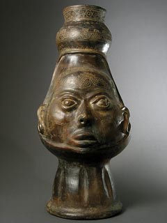 Human Head Effigy Vessel