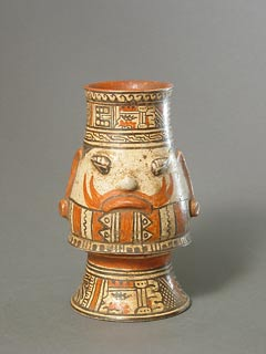 Vessel Depicting the Head of Tlaloc