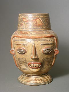 Pre-Columbian Art / Terracotta Trophy Head