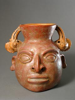 Terracotta Trophy Head with Bird Heads