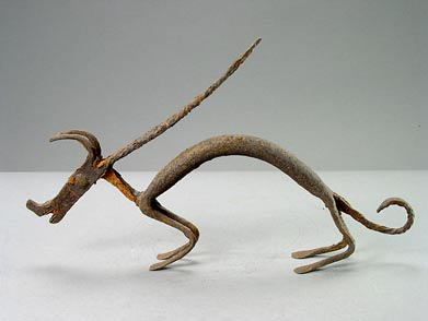 Bambara Iron Sculpture of an Antelope