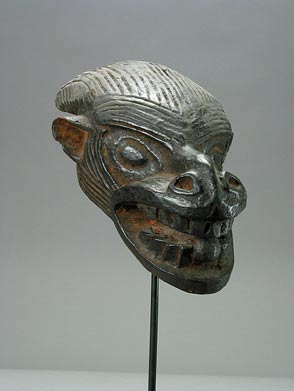Bamun Wooden Sculpture of an Animal's Head