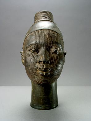 Ife Style Bronze Head of a Female