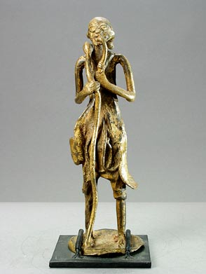 Brass Sculpture of a Standing Male