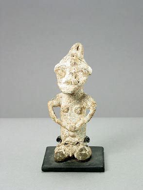Yoruba Lead Onile Sculpture of a Man