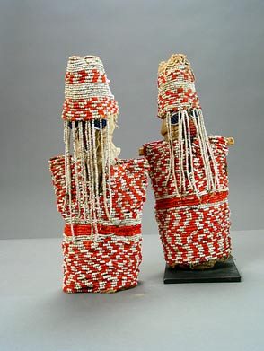 Pair of Yoruba Beaded Ibeji Dolls