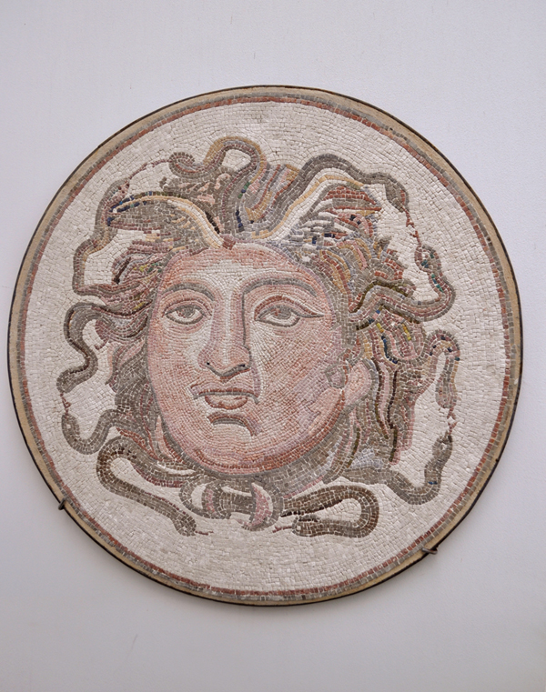 Roman Mosaic Depicting the Head of Medusa