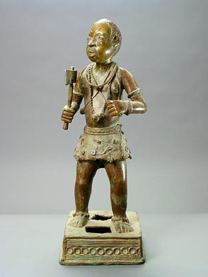 Benin  Bronze Sculpture of a Man
