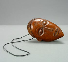 Chokwe Ivory Pendant in the Form of a Mask