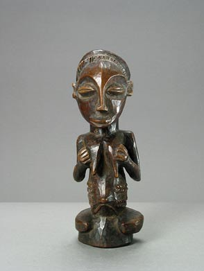 Luba Wooden Sculpture of a Woman