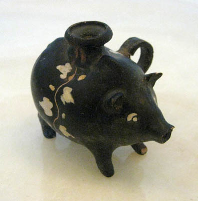 Greek Askos in the Form of a Pig
