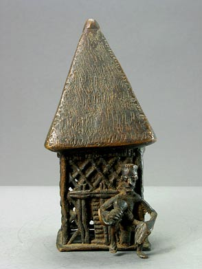 Kulango Bronze Sculpture of a Hut