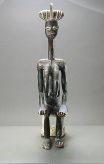 Kulango Sculpture of a Seated Woman