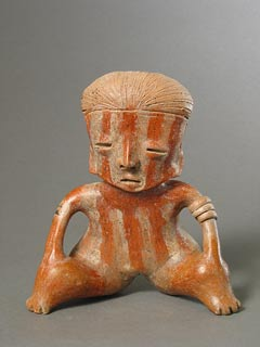 Chinesco Style (Type D) Nayarit Terracotta Seated Figure
