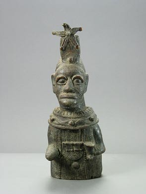 Ife Style Bronze Sculpture of a Dignitary