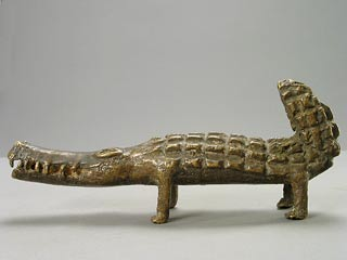 Asante Sculpture of a Crocodile