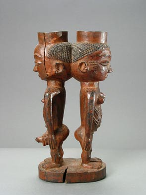 Kuba Double Figural Palm Wine Cup
