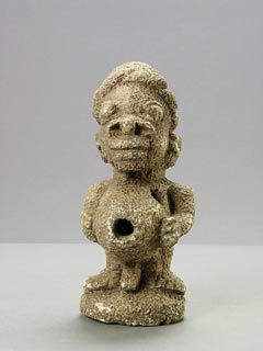 African Art / Kissi Soapstone Nomoli Sculpture of a Standing Man