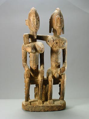 African Art / Dogon Sculpture of a Seated Couple