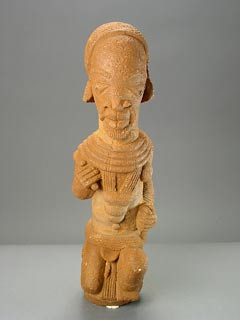 Nok Terracotta Sculpture of a Kneeling Man