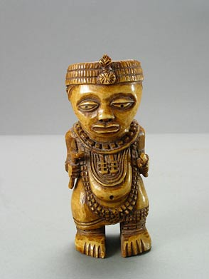 Ife Style Ivory Sculpture of a Nobleman