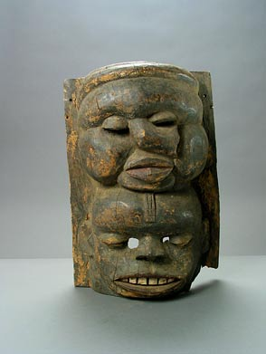 Ibibio Wooden Mask With Two Faces