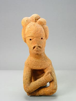 Nok Terracotta Torso of a Man with Crossed Arms