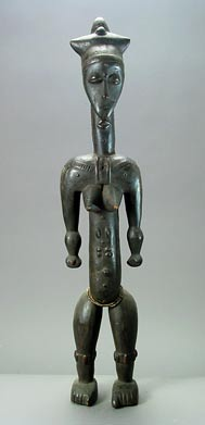 Kulango Wood Sculpture of a Standing Woman