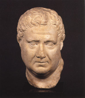 Roman Marble Bust of a Man (Possibly Emperor Vitellius)