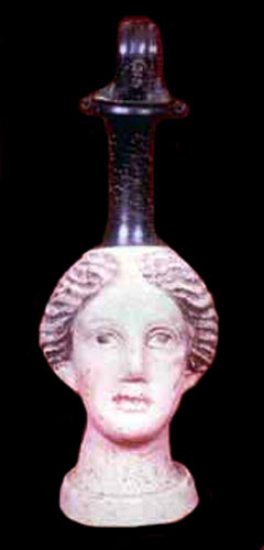 Canosan Oinochoe in the Form of a Woman's Head