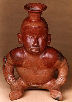 Colima Vessel in the Form of a Squatting Hunchback