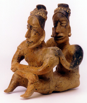 Ameca-Ezatlán Style Jalisco Terracotta Sculpture of a Seated Couple