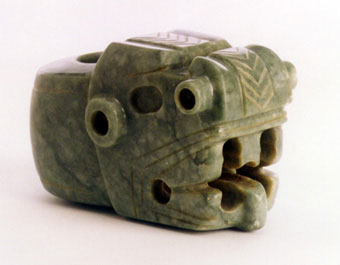 Atlantic Watershed Jade Mace Head in the Form of a Jaguar Head