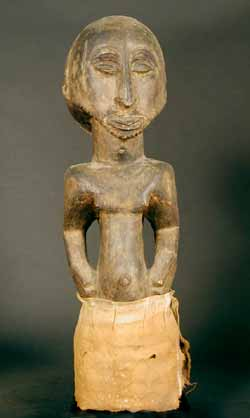 Hemba Wooden Ancestor Sculpture of a Man