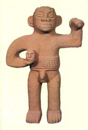 Basalt Sculpture Of A Standing Male